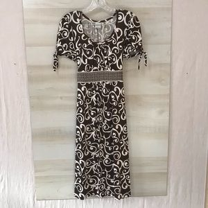 MERONA STRETCHY SCOOP NECK MAXI DRESS SIZE MEDIUM